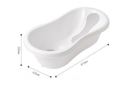 Baby Bathtub With Anti-Slip Recline Pad
