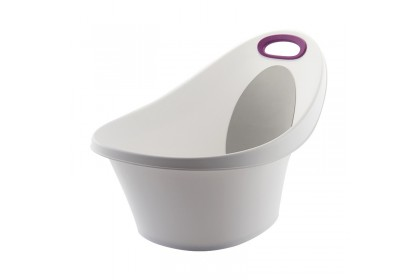 Baby Deep Bathtub With Padded Back Rest & Soft Handle