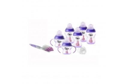 Tommee Tippee Closer To Nature Newborn Starter Set - Purple
