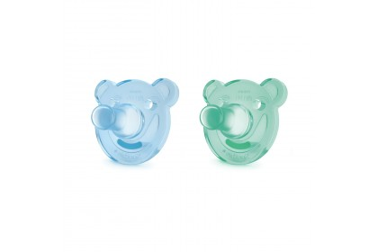 Philips Avent Soothie Shape Pacifier 3m+, Mix Color Bear (Twin)