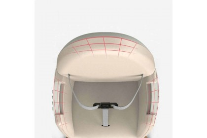 Egg-Shaped Padded High Chair with Adjustable Removable Tray Positions (Pink/Blue)
